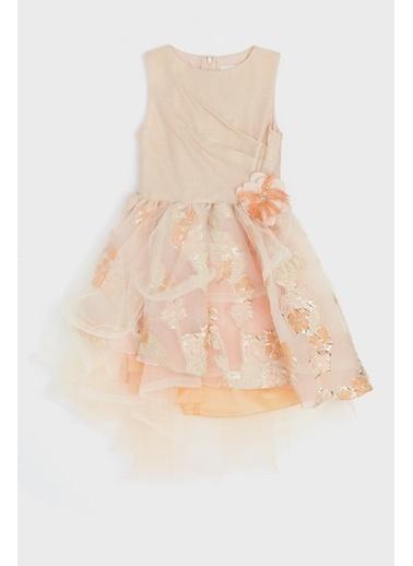 Lia Lea Kız Çocuk Somon Elbise Somon